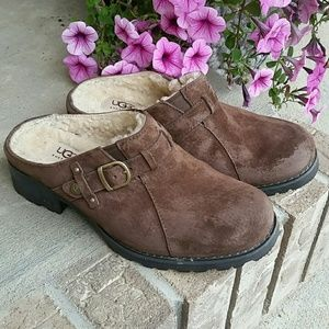 UGG Lila suede leather clog shoes 1910